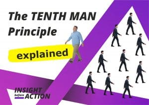 The Tenth Man Rule Principle explained by Insight Before Action