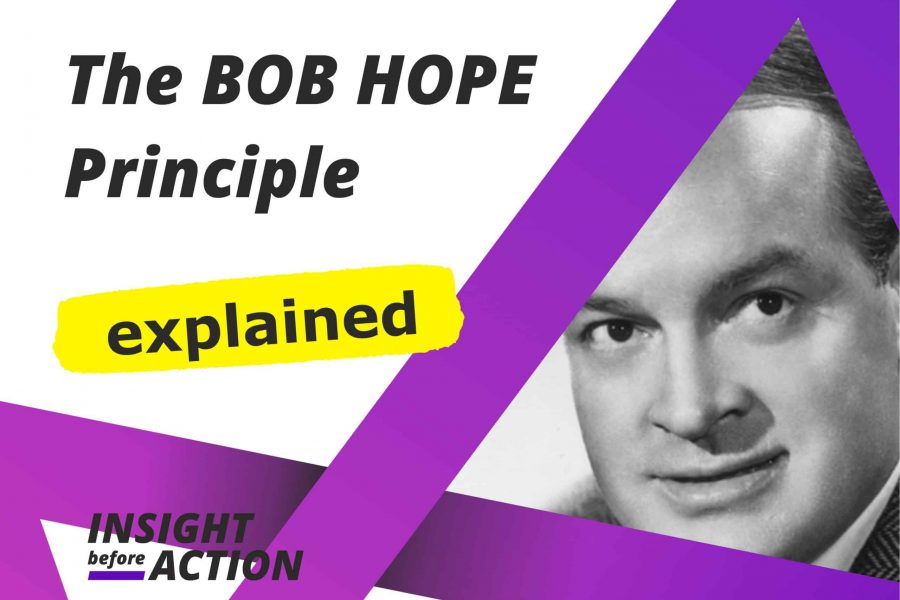 The Bob Hope Principle explained by Insight Before Action 2